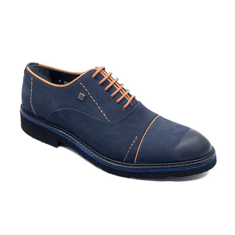 Ahmad Derby Shoes // Navy Blue (Euro: 39)