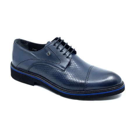Herman Cap Toe Shoes // Navy Blue (Euro: 39)