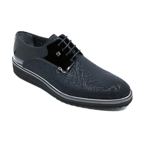 Denzel Classic Shoes + Line Pattern // Black (Euro: 39)