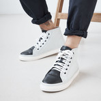 Tilden Leather // Black + White (US: 9.5)