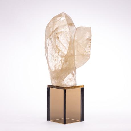 Brazilian Quartz Point + Smoky Acrylic Stand // Ver. III
