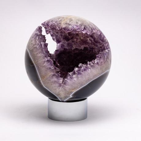 Brazilian amethyst quartz crystal sphere // Ver. II