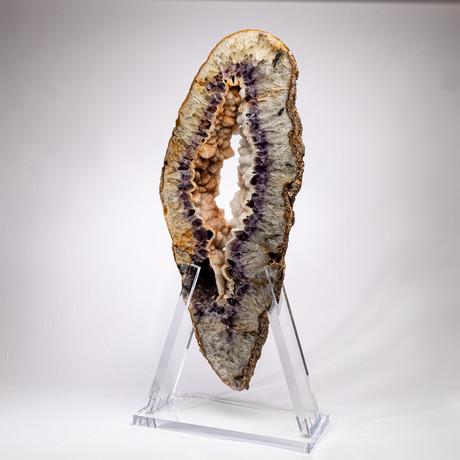 Amethyst Agate Slab + acrylic stand