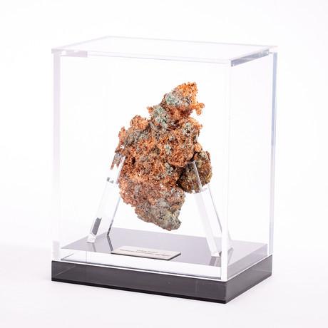 Michigan Natural Native Copper Nugget + acrylic box // Ver. I