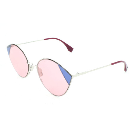 Women's 0341 Sunglasses // Silver + Pink