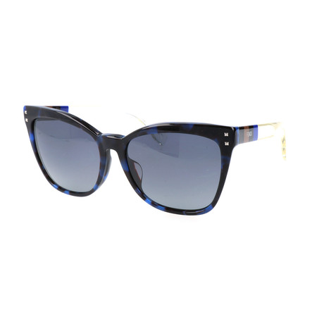 Women's 0098 Sunglasses // Blue Havana + Black + Crystal