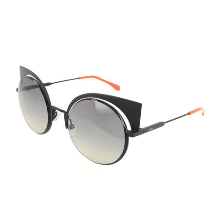 Women's 0177 Round Cat Eye Sunglasses // Matte Black
