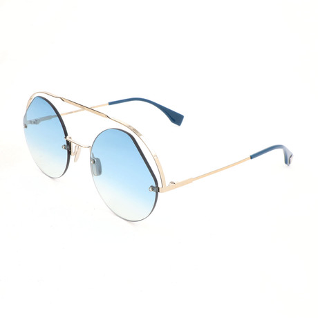 Women's 0325 Sunglasses // Blue + Gold