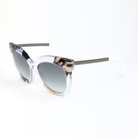 Women's 0179 Sunglasses // Crystal Blue + Animal Pattern