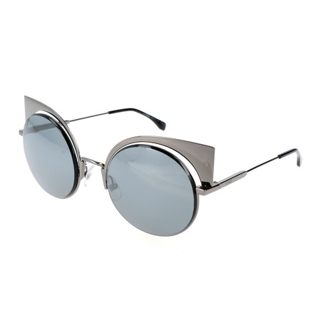 Women's 0177 Round Cat Eye Sunglasses // Dark Ruthenium