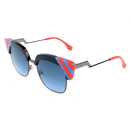 Women's 0241 Sunglasses // Blue + Red + Black