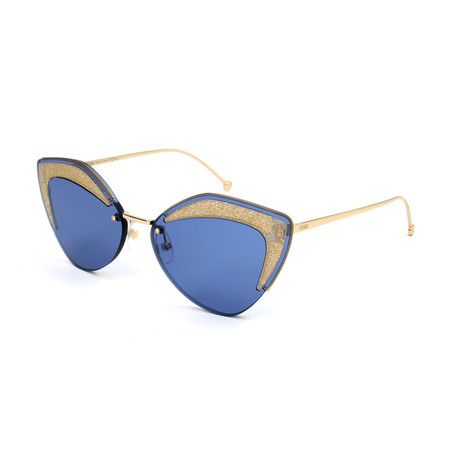 Women's 0355 Sunglasses // Blue + Gold