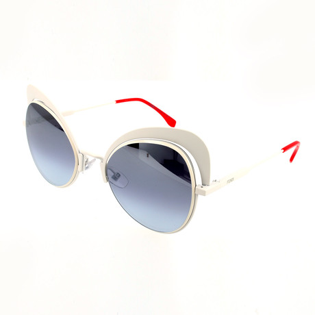 Women's 0247 Sunglasses // White + Dark Gray