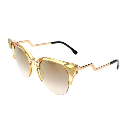 Women's 0041 Cat Eye Sunglasses // Yellow + Gold