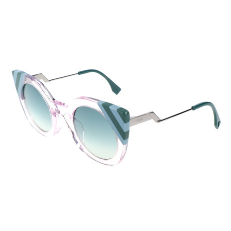 Women's 0240 Sunglasses // Pink + Blue + Green