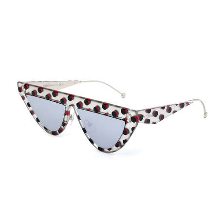 Women's 0371 Sunglasses // Matte Silver + Black + Red