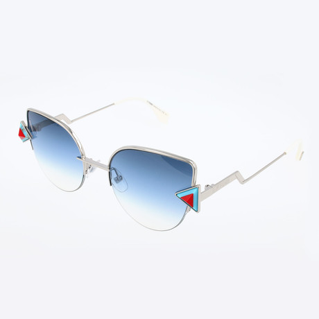 Women's 0242 Sunglasses // Silver + Blue
