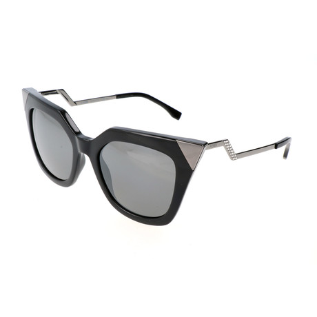 Women's 0060 Cat Eye Sunglasses // Black + Dark Ruthenium