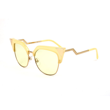 Women's 0149 Cat Eye Sunglasses // Yellow