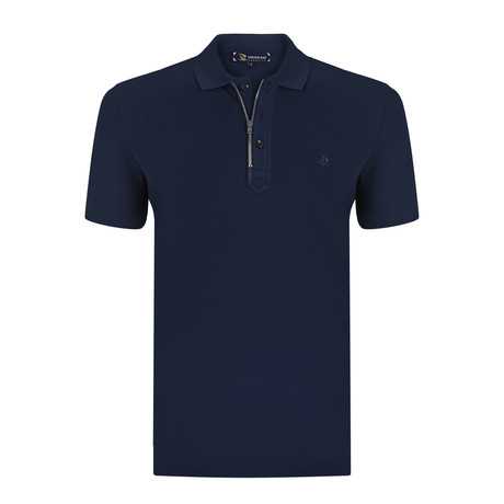 Robert Short Sleeve Polo Shirt // Navy (S)