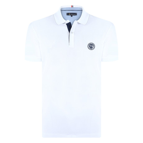 Albert Short Sleeve Polo Shirt // White (S)