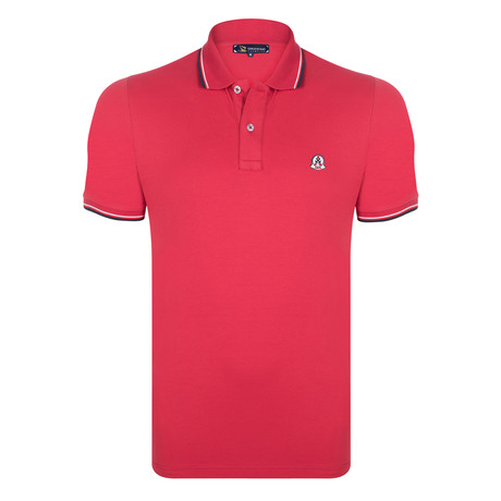 Benjamin Short Sleeve Polo Shirt // Red (S)