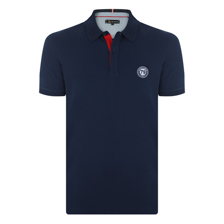 Clarence Short Sleeve Polo Shirt // Navy (S)