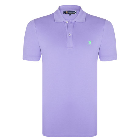 Edward Short Sleeve Polo Shirt // Purple + Green (S)