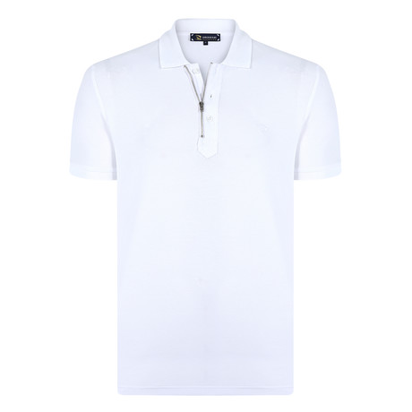 James Short Sleeve Polo Shirt // White (S)
