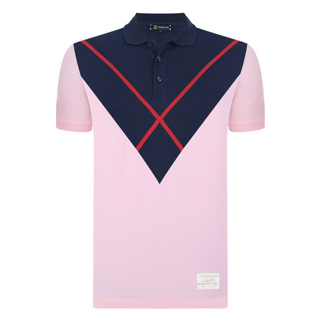 Lewis Short Sleeve Polo Shirt // Pink (S)