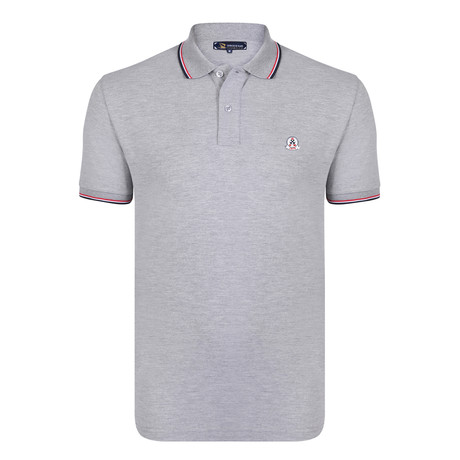 Samuel Short Sleeve Polo Shirt // Gray Melange (S)