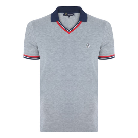 John Short Sleeve Polo Shirt // Gray Melange (S)