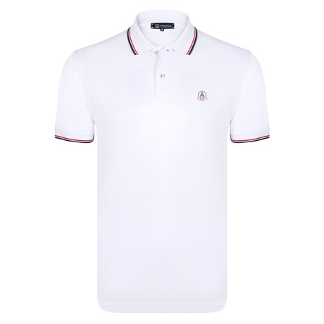 Elmer Short Sleeve Polo Shirt // White (S)