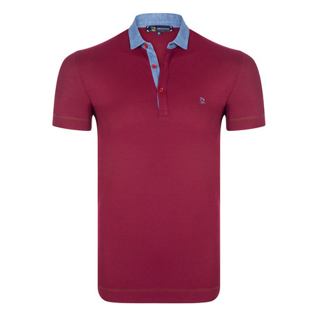 Louis Short Sleeve Polo Shirt // Bordeaux (S)