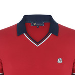 Alfred Short Sleeve Polo Shirt // Red (2XL)