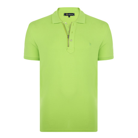Jacob Short Sleeve Polo Shirt // Neon Green (S)