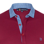 Louis Short Sleeve Polo Shirt // Bordeaux (L)