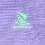 Edward Short Sleeve Polo Shirt // Purple + Green (XS)