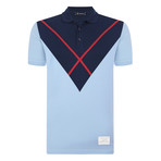 Frank Short Sleeve Polo Shirt // Blue (L)