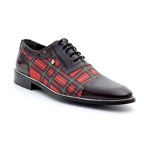 King Loafers // Brown + Red Plaid (Euro: 39)