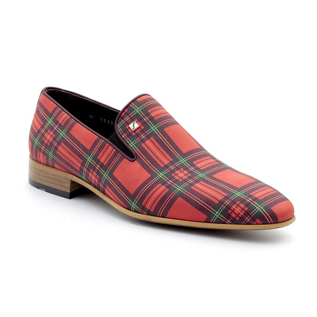 Ewan Loafers // Red Plaid (Euro: 39)