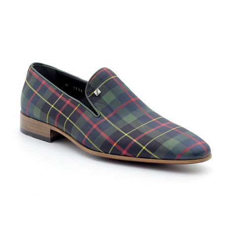Jared Loafers // Green Plaid (Euro: 39)