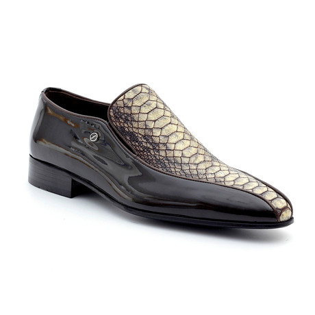 Leif Loafers // Brown + Snake (Euro: 39)
