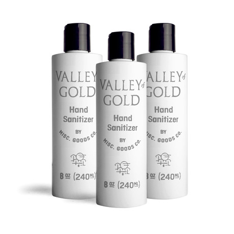 Valley of Gold Hand Sanitizer // 8 oz // 3 Pack