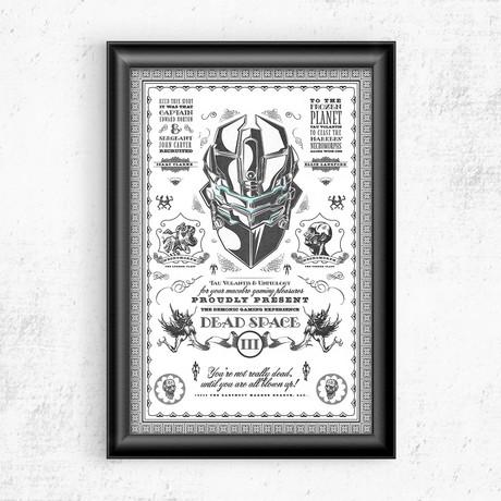 """Dead Space Vintage Print (11""""W x 17""""H)"""