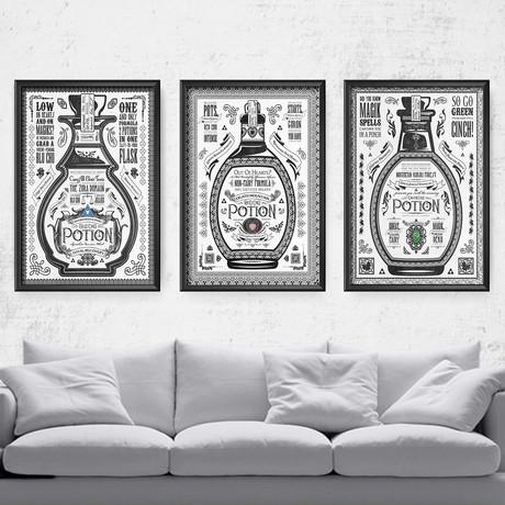 "Zelda // Vintage Potion Advertisement Series (11""W x 17""H)"