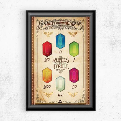"Zelda // Rupeess of Hyrule Vintage Advertisement (11""W x 17""H)"