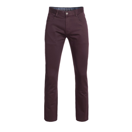 Slim Quality Pants // Burgundy (28WX30L)
