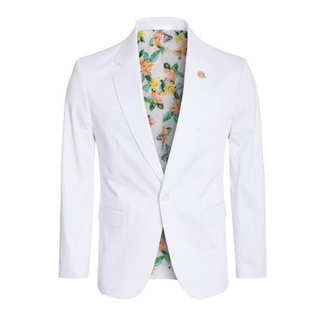 Cotton Stretch Fashion Blazer // White (S)