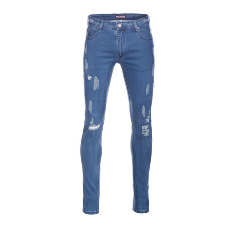 710 Skinny Jeans // Wash Blue (28WX30L)